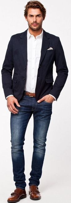 Here are the rules you should follow if you want to make sure that your blazer and jeans combination will work to your best advantage: