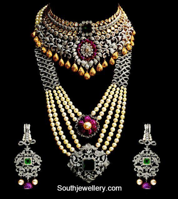Indian bridal diamond jewelry by Shiba asar jewellers