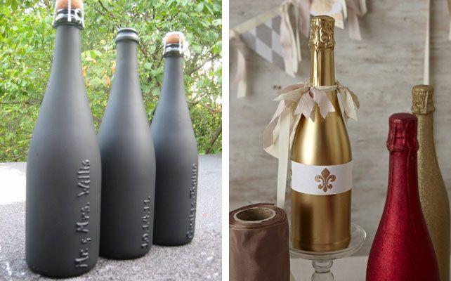 Как декорировать бутылку шампанского