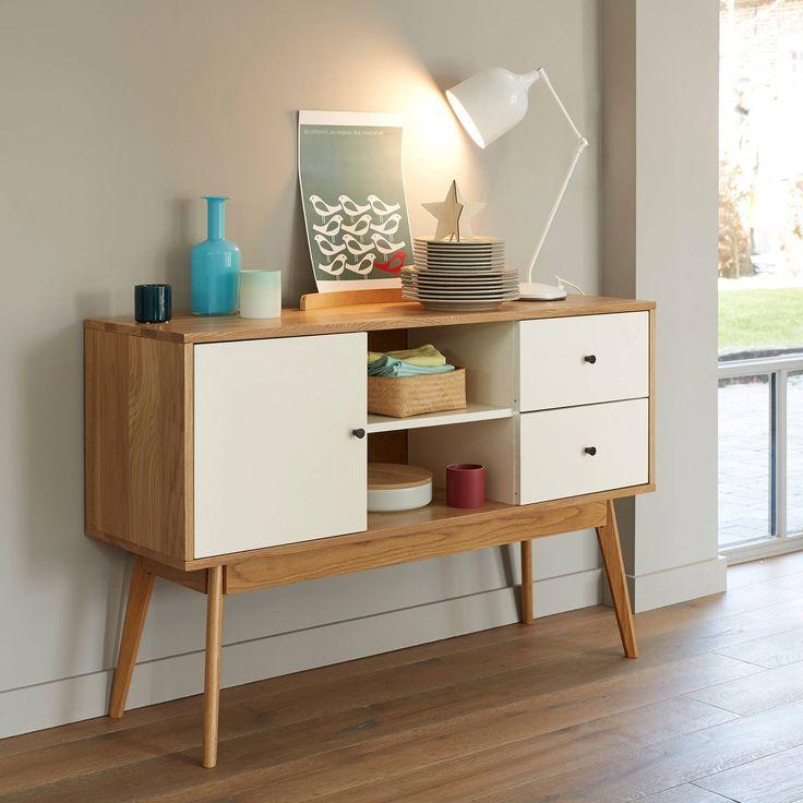 1000 id es propos de buffet blanc et bois sur pinterest. Black Bedroom Furniture Sets. Home Design Ideas