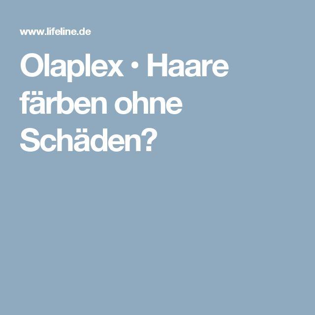 Olaplex • Haare färben ohne Schäden?