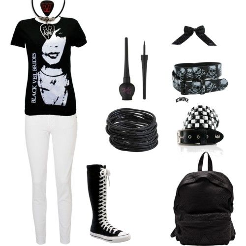Emo Polyvore Outfits for Girls | Emo Scene Clothes Polyvore...... I NEEED those shoes I use to have some but they broke