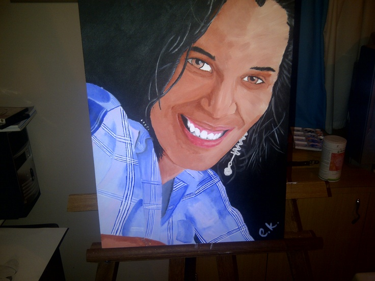 Acrylic Painting of Lynn Scheepers