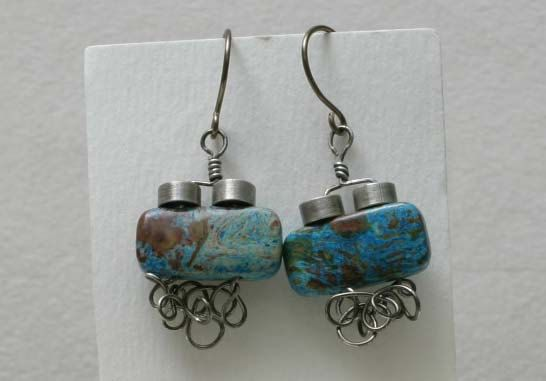 Paisley Jasper Wire Wrapped Earrings by BeccsCreations on Etsy, $20.00
