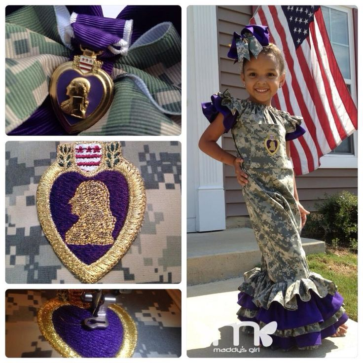 A Purple Heart Camouflage jumper that I made for a customer.  Her daughter wanted to honor her father who received the Purple Heart award for his service overseas.  Have a  Blessed and relaxing Veteran's Day!  #maddysgirl #veteransday #army #military #camouflage #jumper