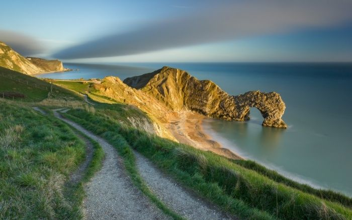 The last of the evening light on Durdle Door, Jurassic Coast, Dorset, winner of the youth classic view category