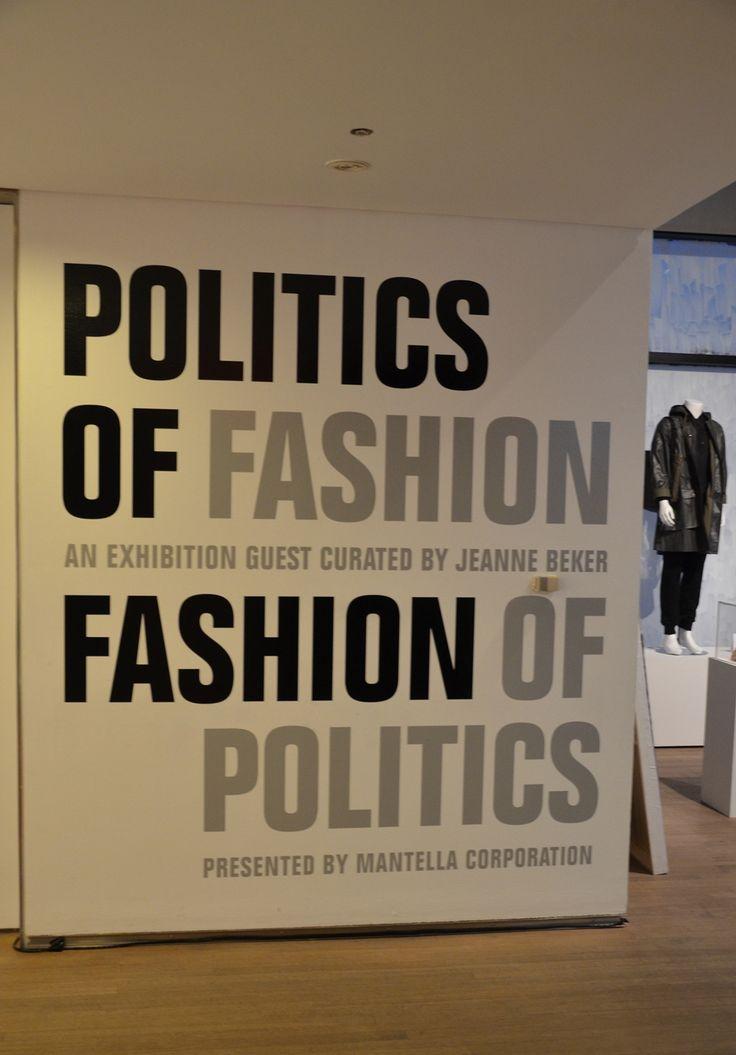 Politics of Fashion | Fashion of Politics - Guest Curator: Jeanne Beker & Design Exchange Curator: Sara Nickleson.