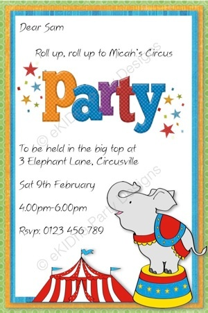 137 best Party Ideas - Circus Carnival images on Pinterest - circus party invitation