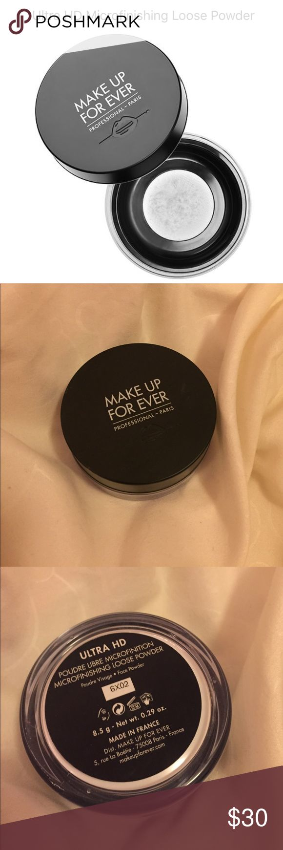 MAKE UP FOR EVER Ultra HD loose powder Used only once or twice, still has 99% of product left. Perfect for blurring and perfecting your makeup! Photo friendly and pore minimizing. Box not included! FAST SHIPPING, if bought will ship same day or following day! Makeup Forever Makeup Face Powder