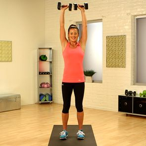 10-Minute Arm Workout Video ... this one left my arms burning! Uses 3-10lb weights + some push-ups.
