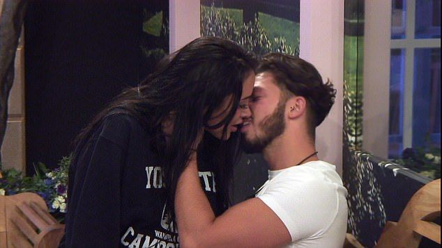 Kiss me quick:During Friday night's episode of Big Brother, Marnie Simpson is seen sharing a very steamy smooch with her crush Kieran Lee