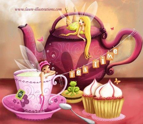 l'heure du thé chez les fée-AVEC TEXTE