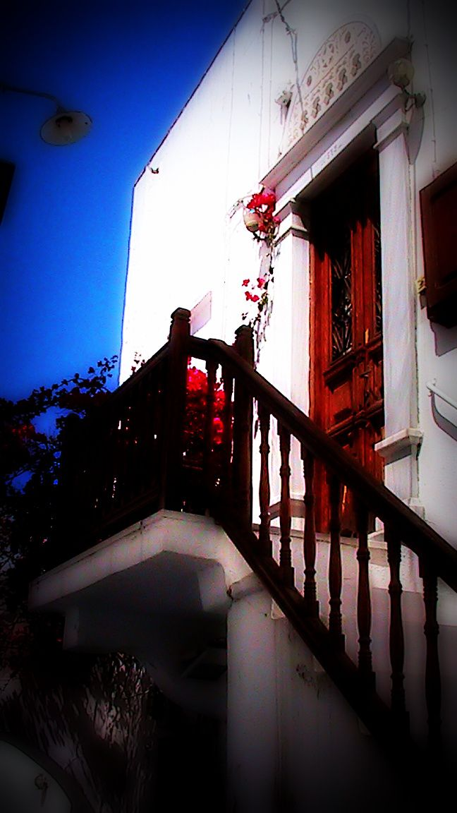 A view of traditional Mykonian house...