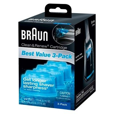 Braun Clean Renew Refill Cartridges For Clean Charge Systems Ccr 3pk Products In 2019 Cartridge Refilling Braun Shaver Cleaning