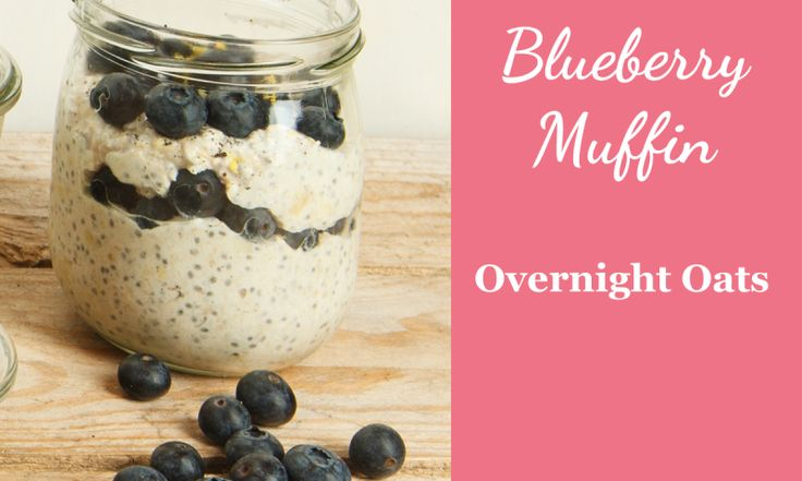 Overnight Oats Rezept Blueberry Muffi