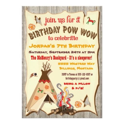 419 best camping and sleepover birthday party invitations images birthday party pow wow teepee invitations stopboris Image collections