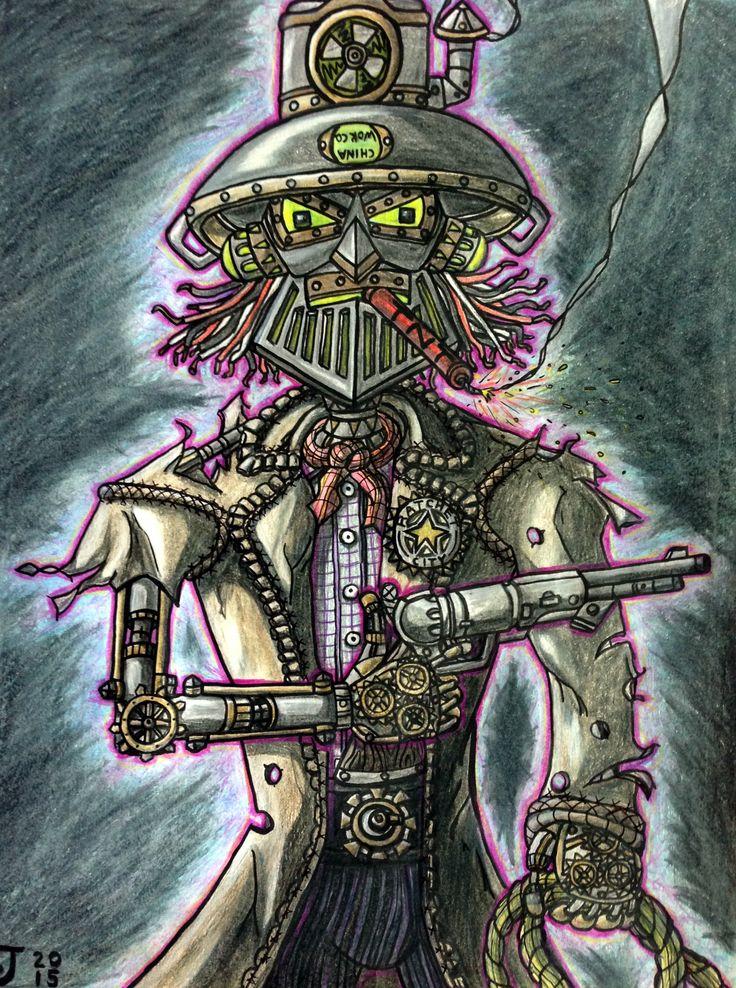 2015 colour sketch of Clint Eastwok in Prismacolour pencils by Kevin 'Doodleworx' Jones.