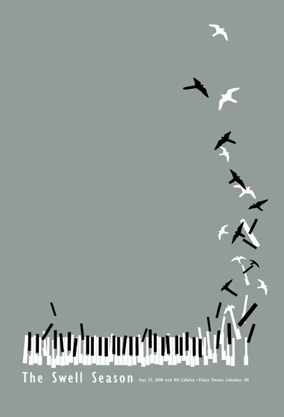 Music, Fly me to the Sky. 23/8: Tattoo Ideas, Swelling Seasons, The Piano, Gig Posters, Posters Design, Music Tattoo, Piano Keys, Concerts Posters, Cool Tattoo