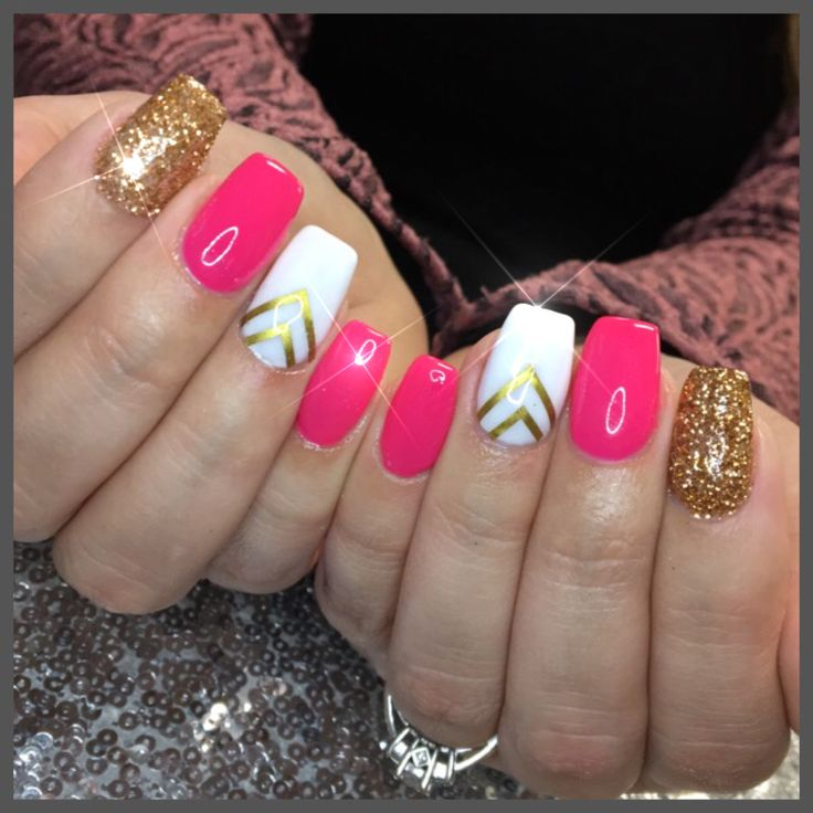 50 best nail designs by me images on pinterest nail designs pink and gold with a simple nail design prinsesfo Images