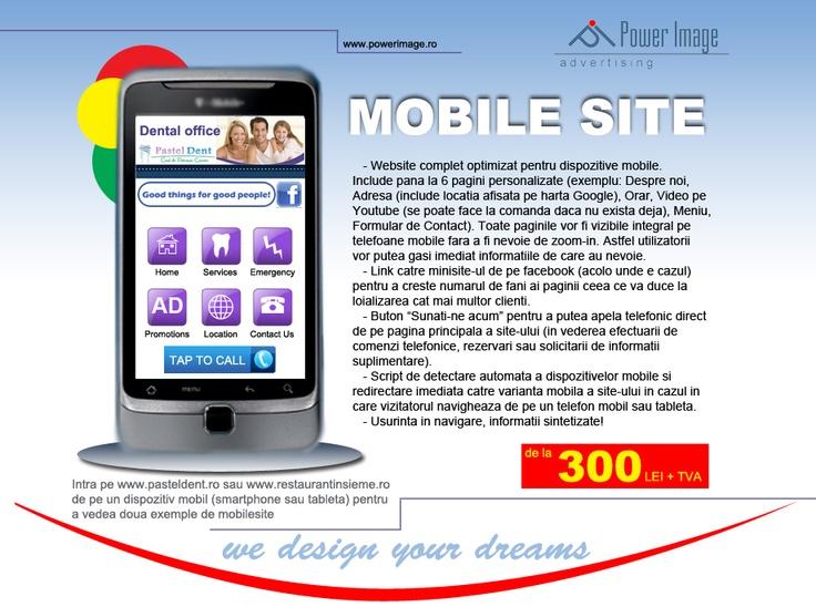 Siteul tau web acum si in varianta de mobil.