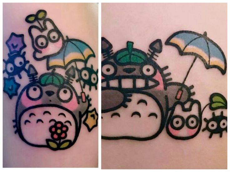 Studio Ghibli tattoo art by Pikkapimingchen