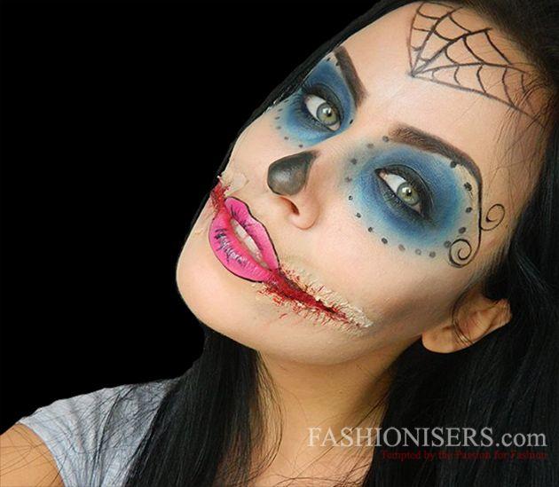 Monster High Makeup Tutorial for Halloween  #halloween #halloweenmakeup #makeup #monsterhigh