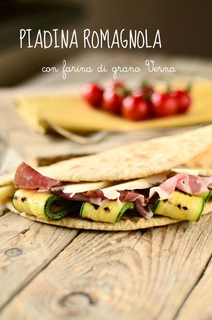Cucina Scacciapensieri: Piadina Romagnola alla farina di grano Verna con crudo, pecorino e zucchine grigliate