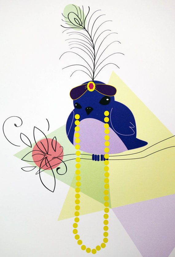 Blue Raj - digital art illustration by Ramalamb on Etsy