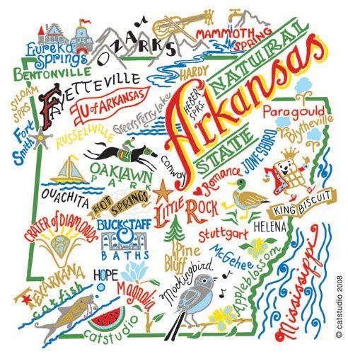 Cute Map of Arkansas