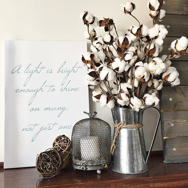 Decorating With Cotton Stems