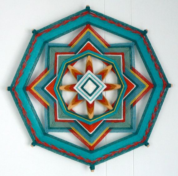 Turquoise Joy a 12 inch 8sided Ojo de Dios by JaysMandalas on Etsy