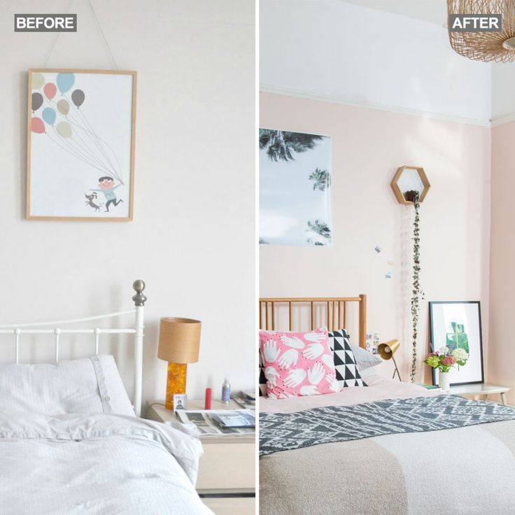Before And After Step Inside This Bedroom Sanctuary Meets Calming Work E