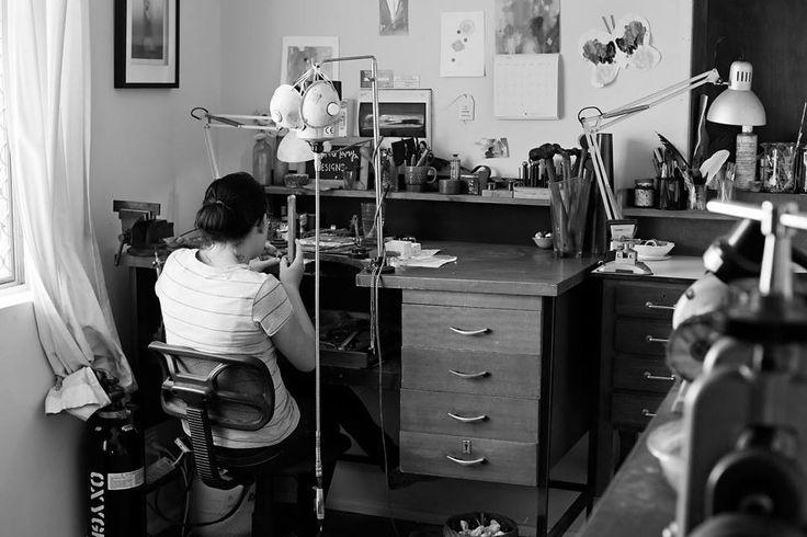 Christina Lowry at work. www.christinalowrydesigns.com