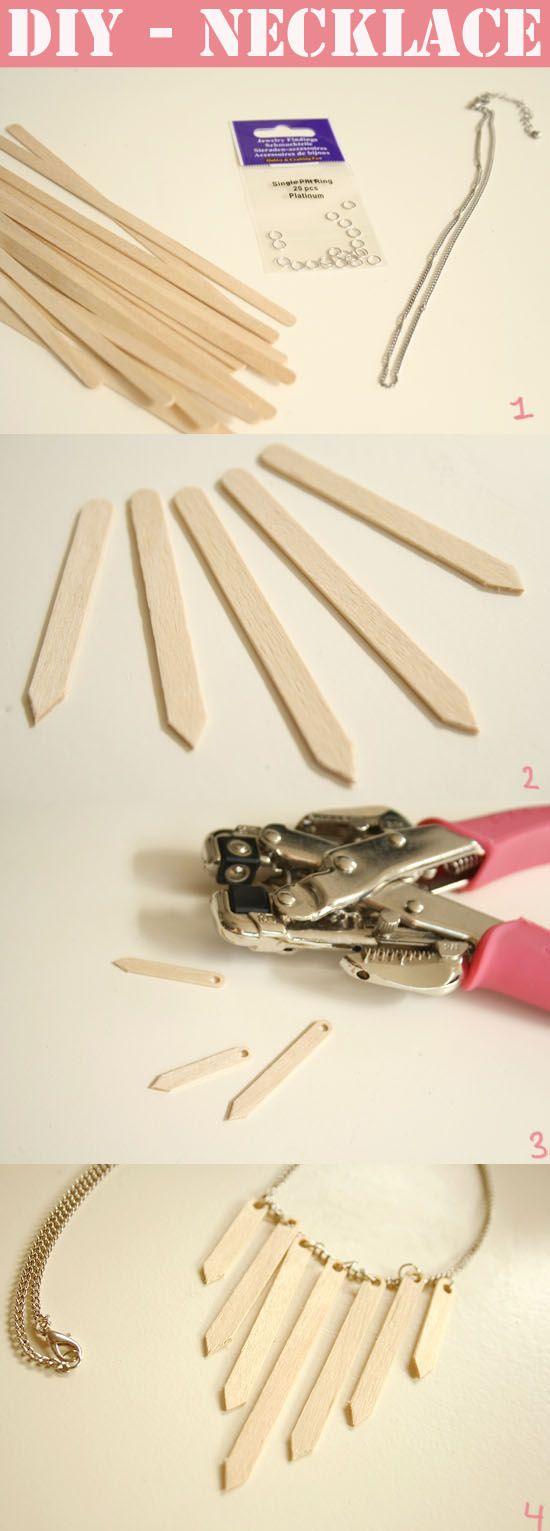 DIY - collier de bois