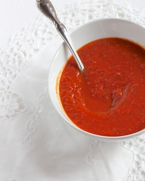 hich makes this soup a perfectly healthy dish – garlic, olive oil, tomato, whole grain – with a green salad, it is a great lunch or dinner! ...