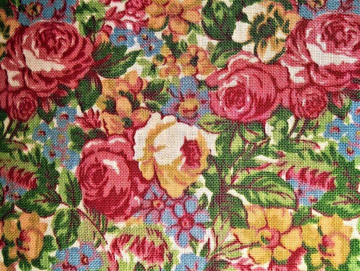 Weefsel, Roos Patroon, Textiel, Structuur, Bloemen
