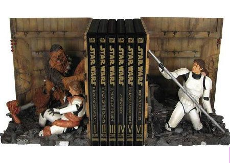 Ha! This might be Matt's next gag gift. His Star Wars books are clearly lacking Star Wars bookends!