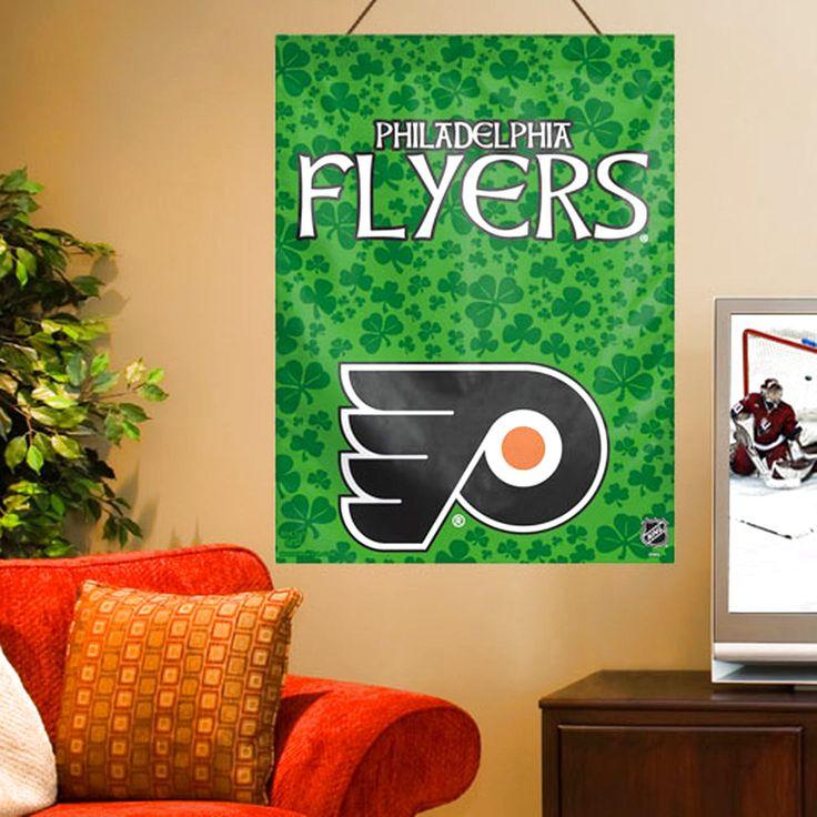 "Philadelphia Flyers WinCraft 27"" x 37"" St. Patrick's Day Horizontal Banner - $20.79"
