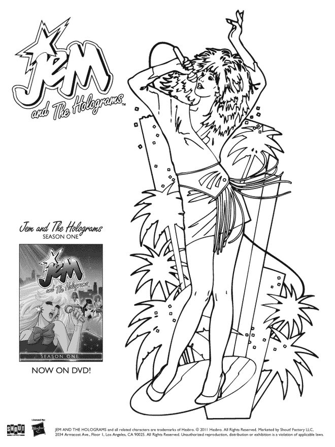 jem and the holograms coloring pages jem aka jerrica benton coloring page cartoon jr