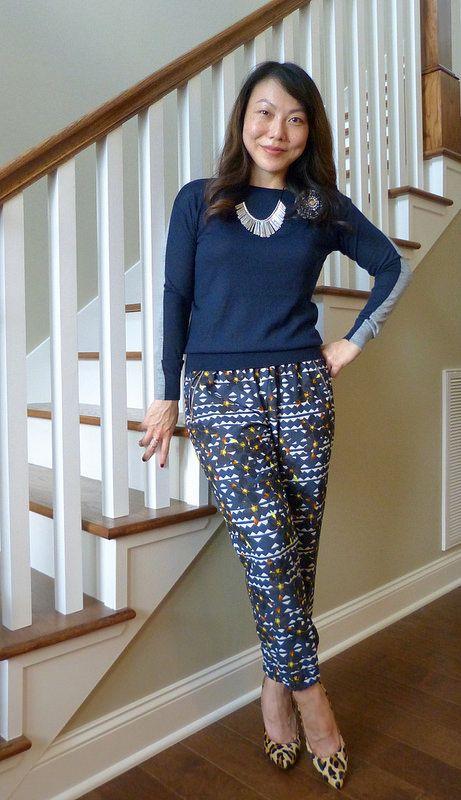 #loftgirl sweater brooch #simplylivly necklace #jcrew pants #jessicasimpson heels