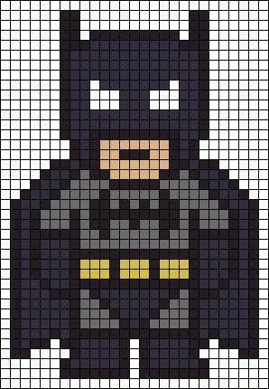 Alpha Pattern, Batman Quilt, Cross Stitch Pattern, Batman Perler Bead ...