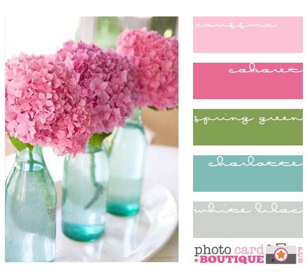 Colorful Bedrooms Choose Your Perfect Palette: Pretty Pink Pallet With Touches Of Blue, Gray And Green