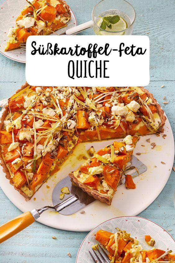 Süßkartoffel-Feta Quiche