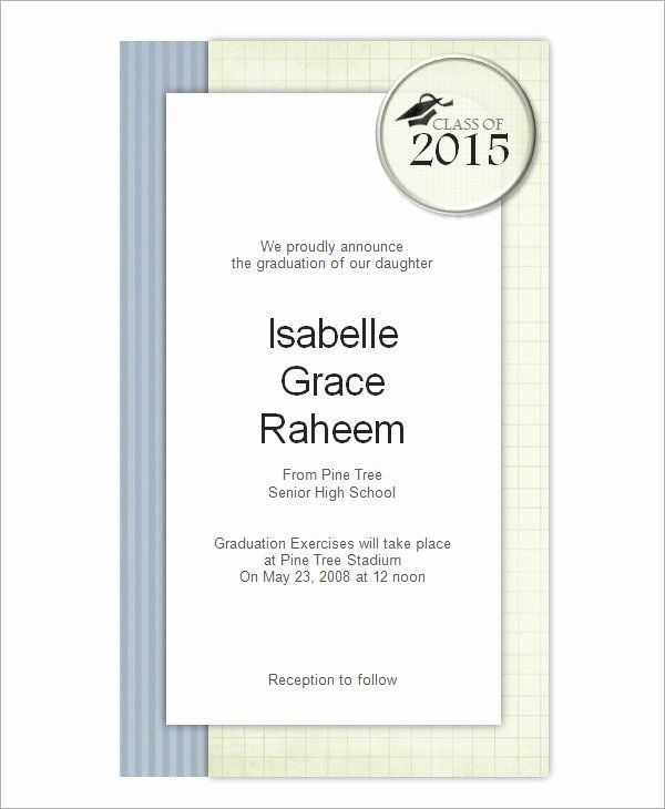 Graduation Card Template Word Lovely 7 Graduation Invitation Templat Graduation Invitations Template Graduation Announcement Template Graduation Card Templates