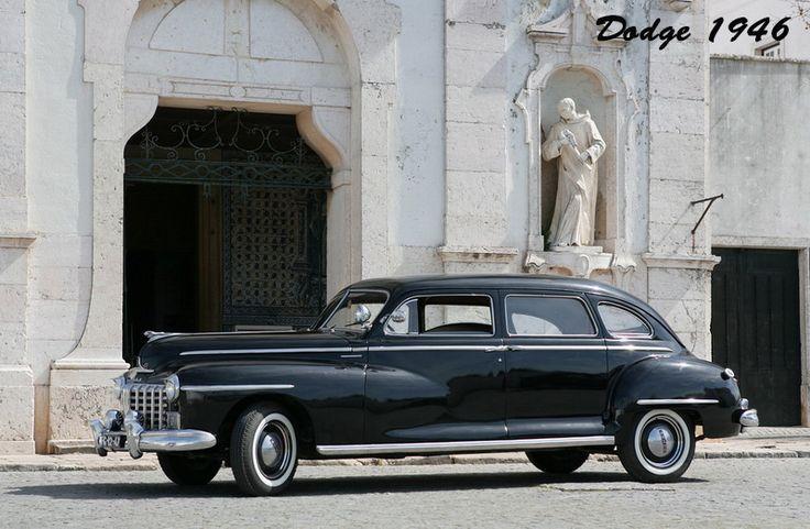 Dodge 1946, modelo D-24 Sedan Deluxe, 7 passageiros.