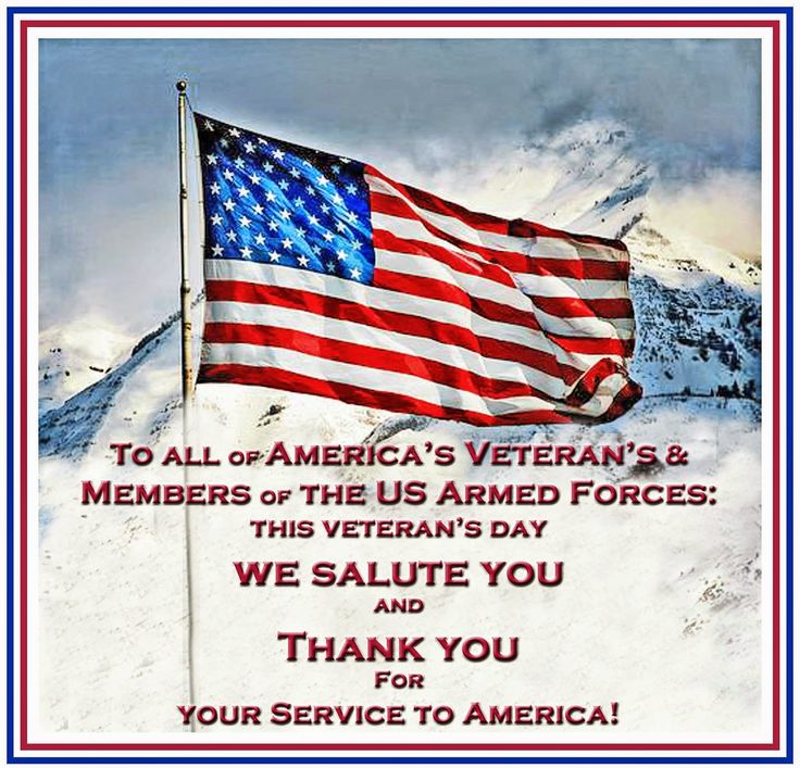 Thank you Veteran's!