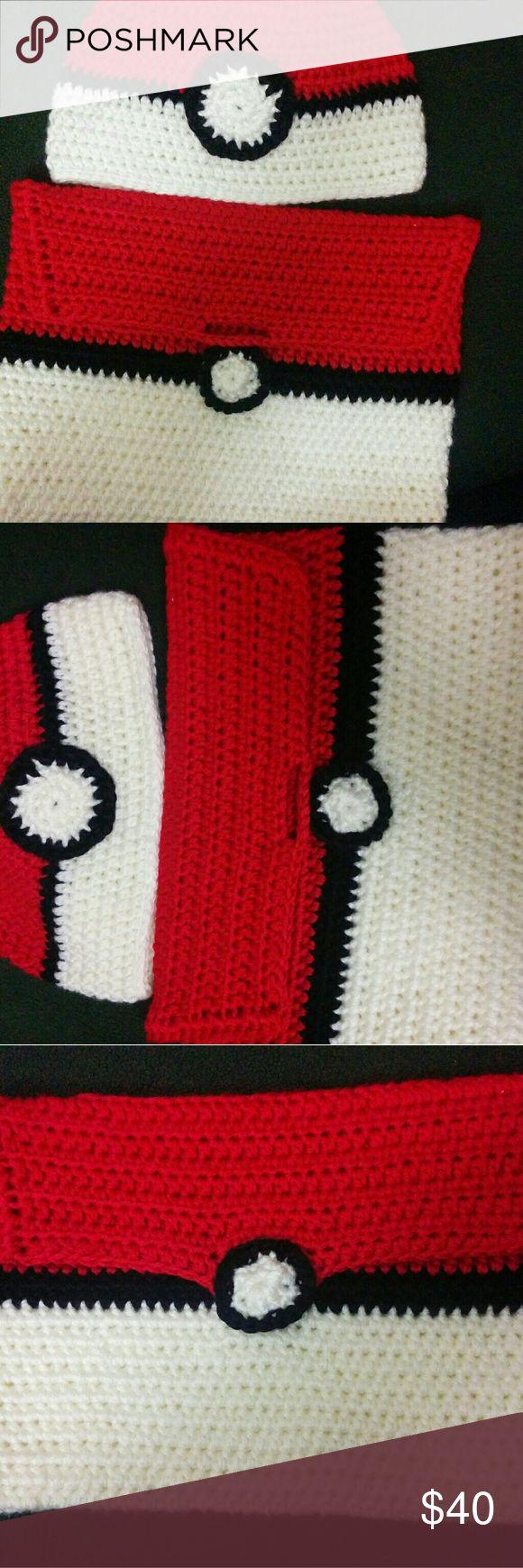 Pokemon hat with tablet cover Handmade crochet Pokemon hat with tablet cover. Ready to ship. Happy Poshing 😎 handmade Other