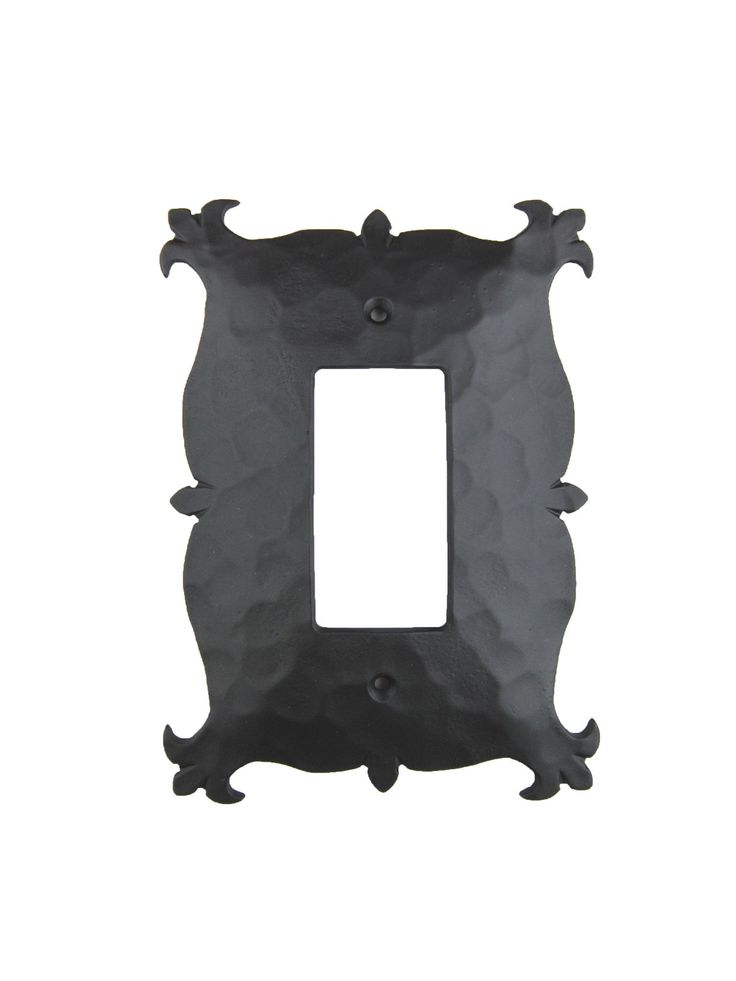 EPH13 Mediterranean Iron Switch Plate Cover Single GFI/Paddle