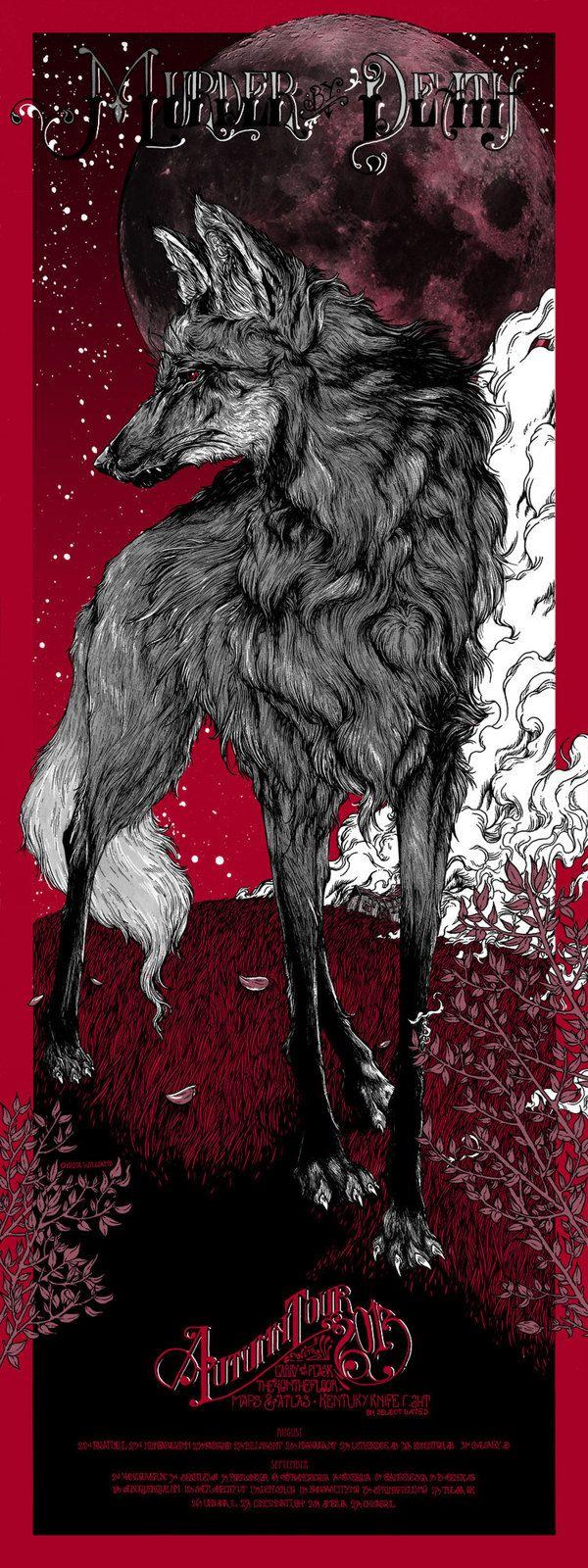 Murder By Death Autumn Tour by Erica Williams, via Behance