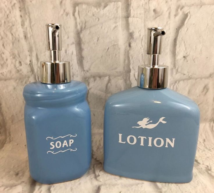 Mermaid Blue Lotion And Liquid Hand Soap Dispensers Beach Decor New Gift | Home & Garden, Bath, Soap Dishes & Dispensers | eBay!